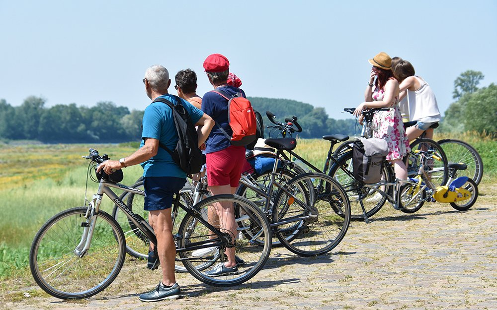 Cyclotouristes en balade