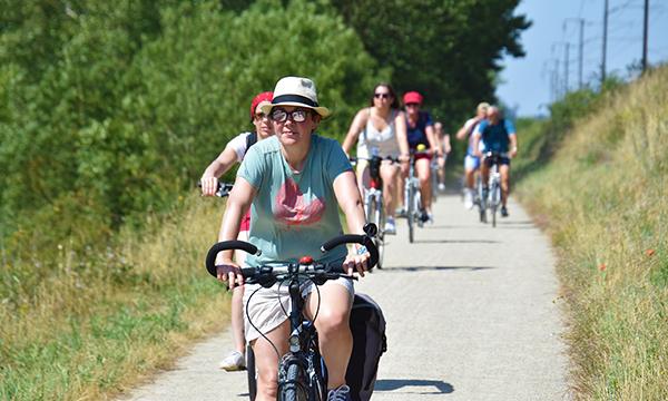 balade de groupe en vélos