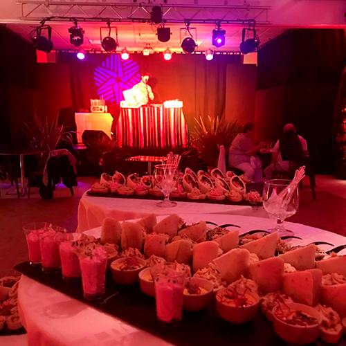 salle des fêtes et buffet du village club